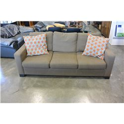 BROWN UPOLSTERED SOFA
