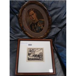 VINTAGE PORTRAIT AND FRAMED HIGH RIVER RODEO PICTURE