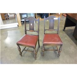 2 VINTAGE DINING CHAIRS