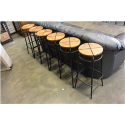 LOT OF SIX BARSTOOLS