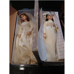 TWO LIMITED EDITION TRADITIONS WEDDING DOLLS
