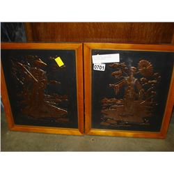 TWO FRAMED EASTERN BRONZE FLASH PHOTOGRAPHY