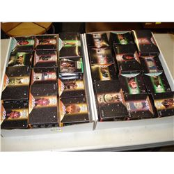 TWO TRAYS OF STAR WARS AND KFC TACO BELL PIZZA HUT TOYS IN BOXES