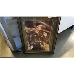 SIGNED ELVIS PAINTING