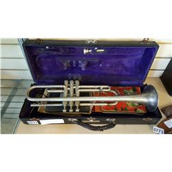 AMERICAN STANDARD 1927 TRUMPET SN1298 WITH ANTIQUE MUSIC BOOKS