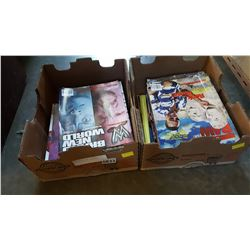 TWO BOXES OF WWF MAGAZINES