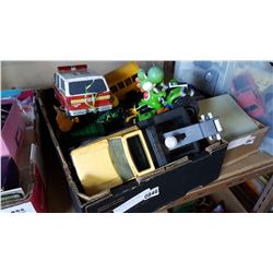 BOX OF TOY CARS AND TONKA