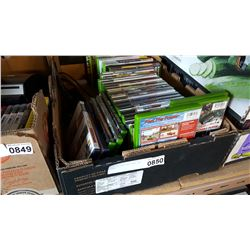 TRAY OF XBOX AND XBOX 360 GAMES