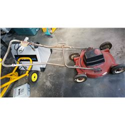 RED CRAFTSMAN POWER BOOST ELECTRIC MOWER