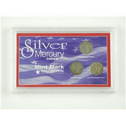 Silver Mercury Dime - Mint Mark Collection