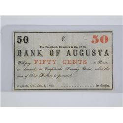Bank of Augusta 50 Cents '1868'