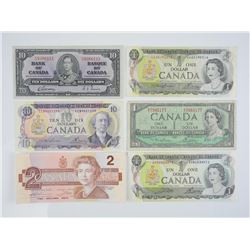 Lot Bank of Canada Notes - 25.00 Face