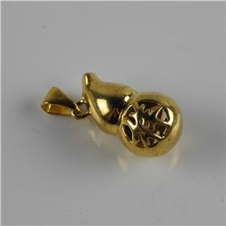 24kt Gold Plated Good Luck/Life Pendant.