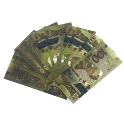 10x Canada $100.00 24kt Gold Leaf Note
