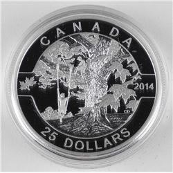.9999 Fine Silver $25.00 Coin Under The Maple Tree