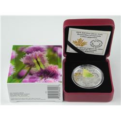 .9999 Fine Silver $20.00 Coin, Butterflies of Cana