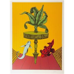 Peter Paone, Fish at Home, Lithograph