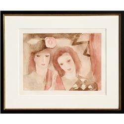 Marie Laurencin, Two Women, Etching