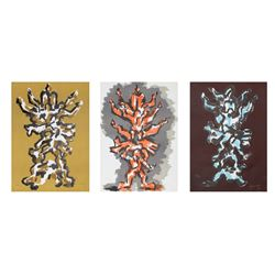 Jacques Lipchitz, Tree of Life, Portfolio of Three Lithographs