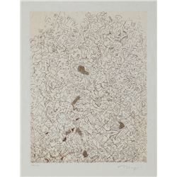 Mark Tobey, Psaltery, 2nd Form, Etching on Japon