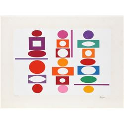 Yaacov Agam, Double Metamorphosis III (Mini), Silkscreen