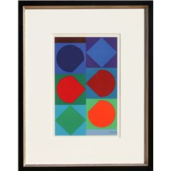Victor Vasarely, Beryll, Lithograph