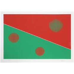 Gisela Beker, Red and Green, Serigraph