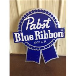 PABST BLUE RIBBON TIN BEER SIGN