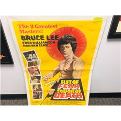 VINTAGE LARGE BRUCE LEE MOVIE POSTER