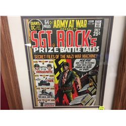 VINTAGE 1971 DC COMIC SGT ROCKS PRIZE BATTLE TALES FRAMED