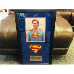 AUTOGRAPHED CHRISTOPHER REEVE SUPERMAN PICTURE FRAMED