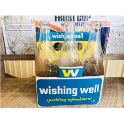 WISHING WELL VINTAGE 1950 FULL SET OF BOTTLES INCLUDING CASE