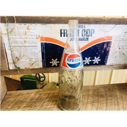 VINTAGE PEPSI BOTTLES AND CASE