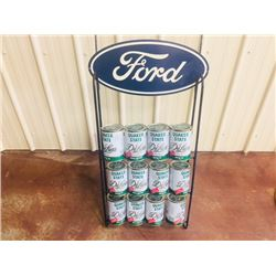 QUAKER STATE DELUXE MOTOR OIL STAND.