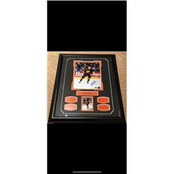 AUTOGRAPHED PAVEL BURE PHOTO WITH HOCKEY CARD. VANCOUVER CANUCKS. CERTIFICATE OF AUTHENTICATION.