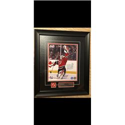 AUTOGRAPHED MARTIN BRODEUR PHOTO. CERTIFICATE OF AUTHENTICATION STICKER..