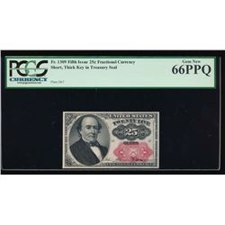 25 Cent Fifth Issue Fractional Note PCGS 66PPQ