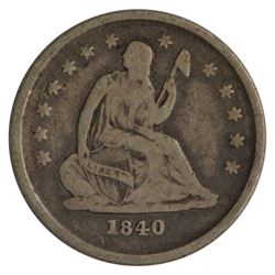 1840-O Seated Liberty No Drapery Quarter Coin