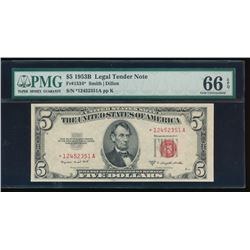 1953B $5 Legal Tender Note PMG 66EPQ