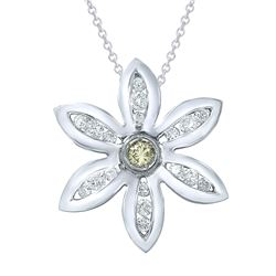 14KT White Gold 1.40ctw Diamond Pendant with Chain