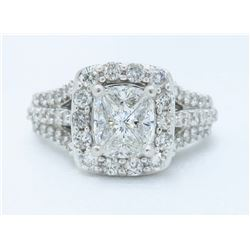14KT White Gold 1.40ctw Diamond Ring