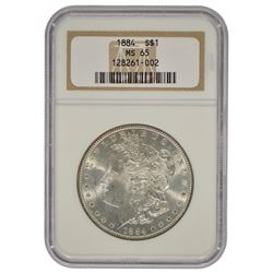 1884 $1 Morgan Silver Dollar Coin NGC MS65