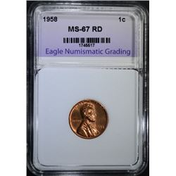 1958 Lincoln Cent MS67RD