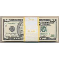 Lot of 100 Consecutive $10 Federal Reserve Notes
