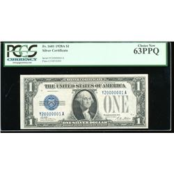 1928A $1 Silver Certificate Fancy Serial Number PCGS 63PPQ