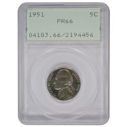 1951 Jefferson Nickel PCGS PR66