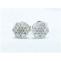10KT White Gold 0.25ctw Diamond Earrings