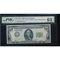 1934 $100 San Francisco Federal Reserve Note PMG 64EPQ