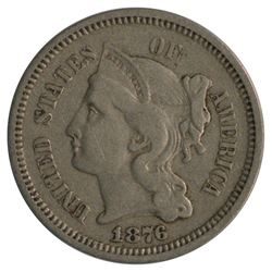 1876 Three Cent Nickel Coin