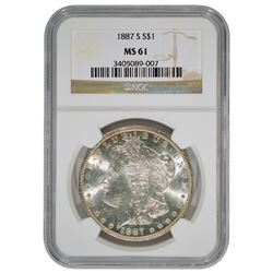 1887-S $1 Morgan Silver Dollar Coin NGC MS61